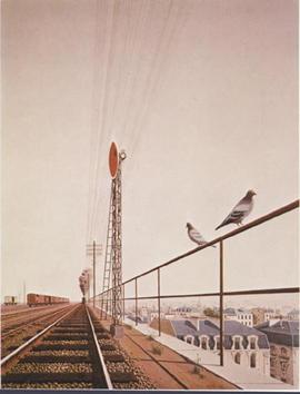 APPIA, La gare, huile sur toile, 1969