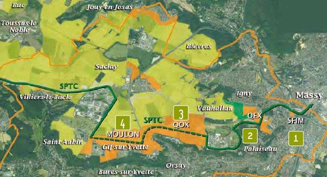 vue aérienne plateau de Saclay (source CAPS)