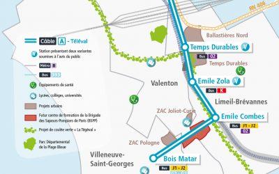 Transport par cable Crétéil / Villeneuve-St-Georges : avis pour la concertation
