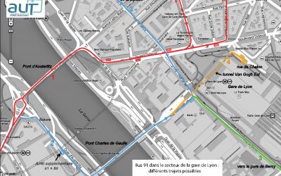 Bus 91 bloqué par les taxis près de Gare-de‐Lyon: une solution est possible