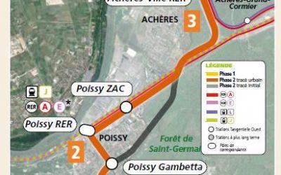 Tangentielle Ouest à Poissy et Achères : avis pour la concertation complémentaire