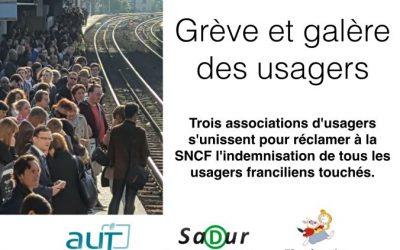 Grève SNCF : indemnisation des usagers franciliens