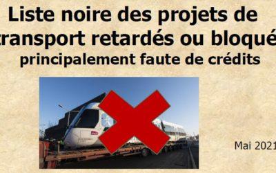 Transports franciliens : liste noire des projets retardés ou bloqués