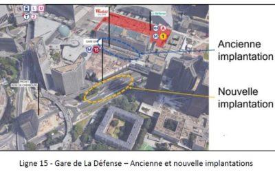 Ligne 15 ouest : faciliter autant que possible les correspondances à La Défense